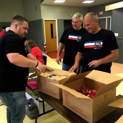 Volunteers Packing